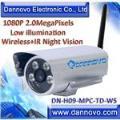 DANNOVO HD Outdoor Waterproof Wireless IP Camera IR 1080P 2MP,Low Illumination(DN-H09-MPC-TD-WS)