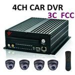 Factory Direct 2014 new 4 Channel Mobile DVR support 3G online watch live video and GPS tracking