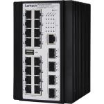 Lantech IPGS-6416XSFP 10GbE Industrial Managed PoE Ethernet Switch