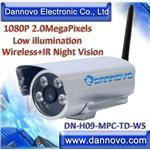 DANNOVO HD Outdoor Waterproof Wireless IP Camera IR 1080P 2MP,Low Illumination(DN-H09-MPC-TD-WS)