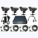 4ch DVR, 4 pcs Weatherproof IR camera
