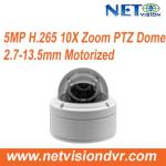 10X Zoom Mini Dome PTZ IP Camera 5MP PoE NT585PTL-IR Factory Competitive Price