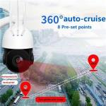 1080p 2Mp Outdoor water-proof 4G 5X zoom WIFI IP IR SD card Two ways audio PTZ dome camera
