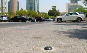 Nedap's smart parking sensors installed in the United Arab Emirates