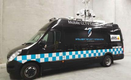 Axis deployed in mobile video surveillance command center