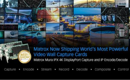 Matrox now shipping DisplayPort video wall capture cards