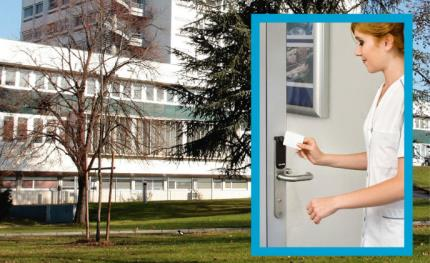 Aperio wireless access control cuts theft from Grenoble university hospital