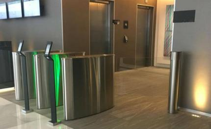 Mexico City's Domain Tower Building relies on Boon Edam turnstiles to secure access