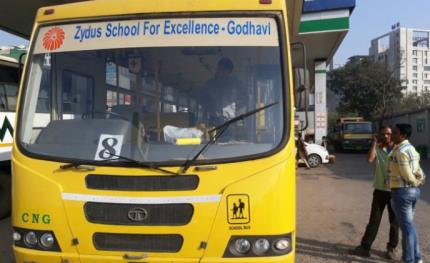 Zydus school buses secured by CP PLUS cameras