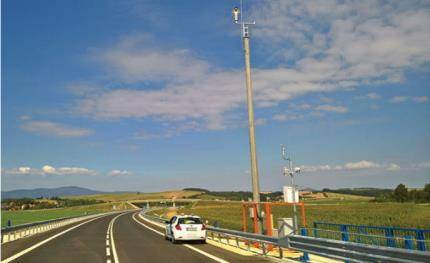 Axis IP cameras perform surveillance over traffic on R2 highway