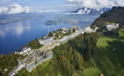 Siemens: lake water for heating and cooling at the Bürgenstock Resort