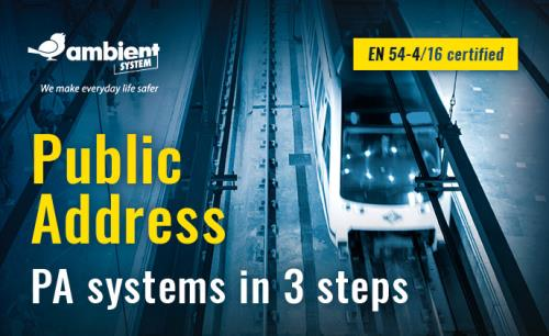 Ambient System: public transport systems in three steps