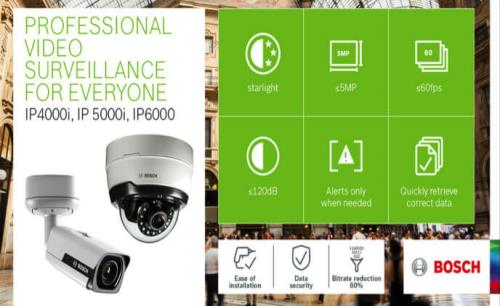 Bosch launches new portfolio of IP cameras