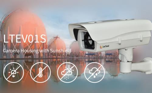 LonTrend LTEV01S with sunshield to facilitate outdoor surveillance