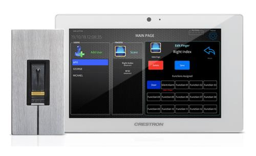 Crestron smart homes to have ekey fingerprint entry access