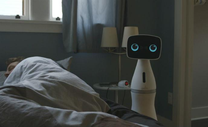 This could be the creepiest home security robot yet!