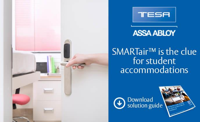 Secure student accommodation with SMARTair access control