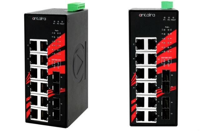 Antaira releases industrial high Gigabit 16-port PoE unmanaged switches LNP-1604G-SFP series