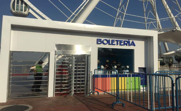 Boon Edam turnstiles enhances entry control for South America's ferris wheel