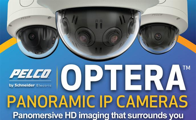 Pelco Optera panoramic multi-sensor cameras for high-quality detailed images