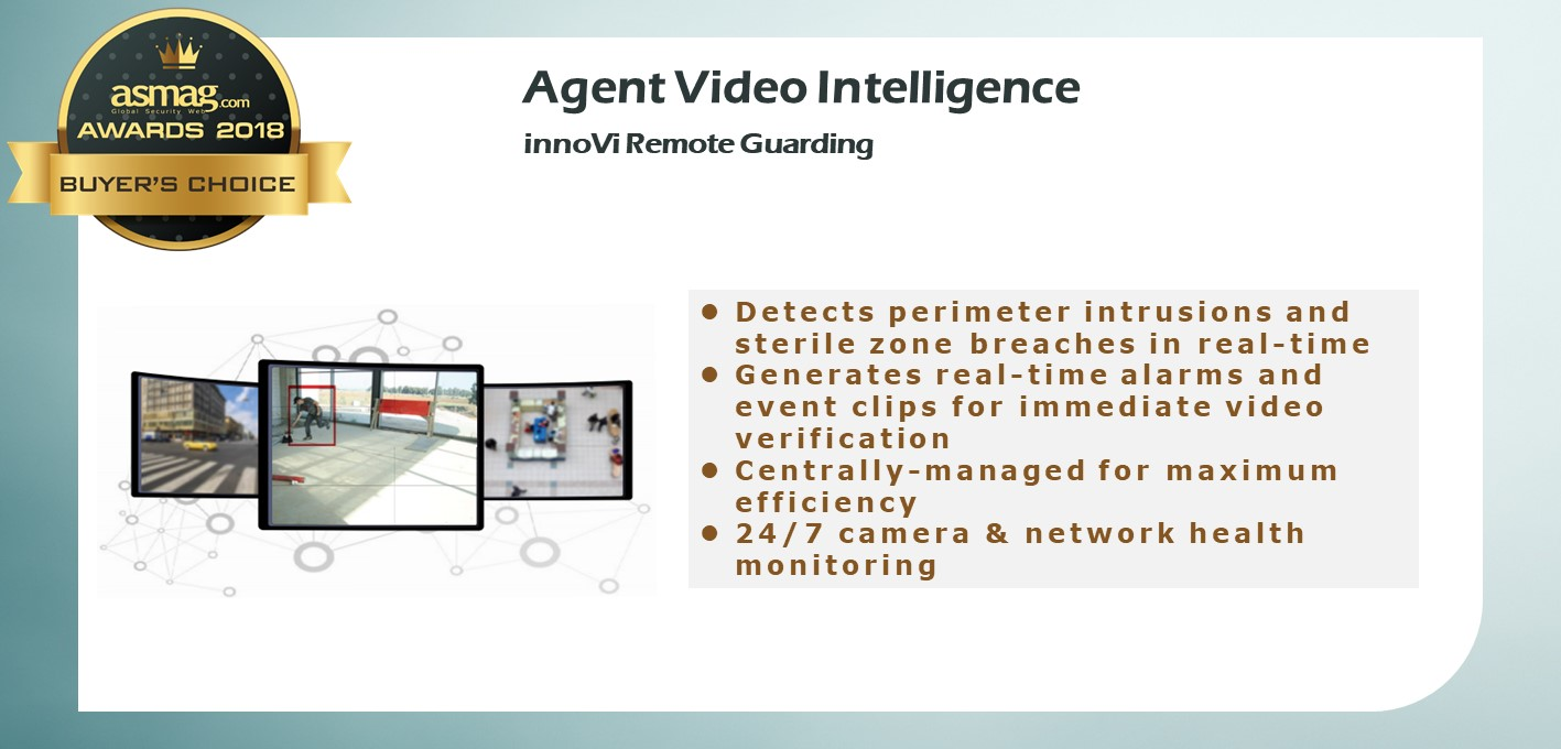 Agent Video Intelligence innoVi Remote Guarding