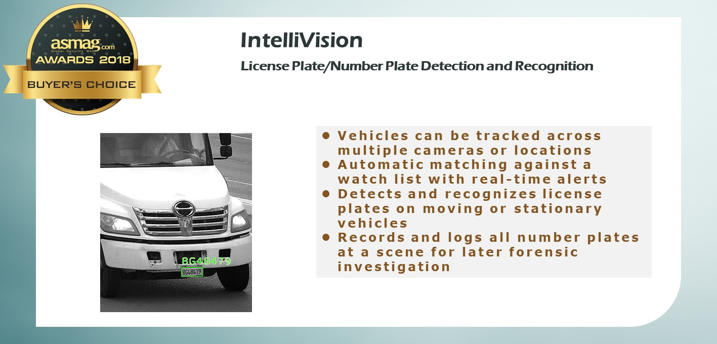 IntelliVision License Plate Recognition