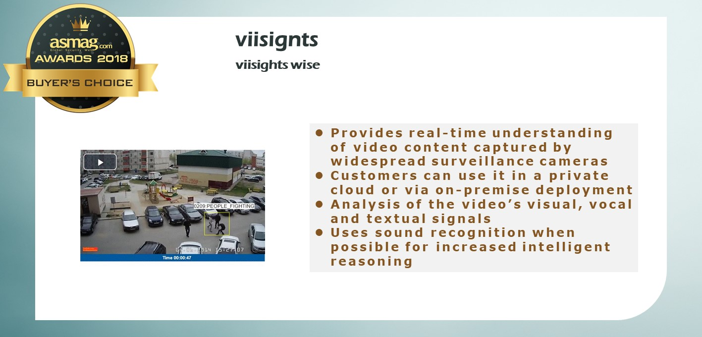 viisights wise - Behavioral Recognition for Realtime Video Intelligence