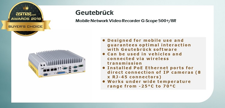Geutebruck Mobile Network Video Recorder G-Scope 500+