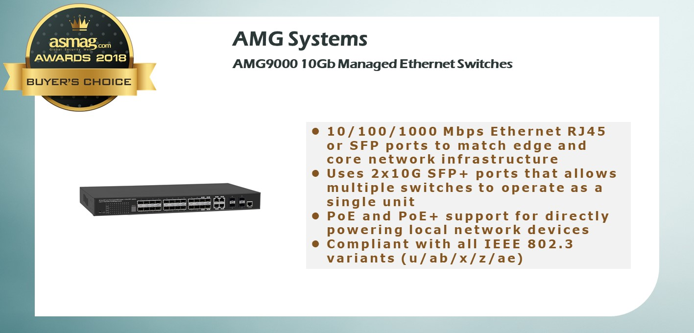 AMG9000 10Gb Managed Ethernet Switches