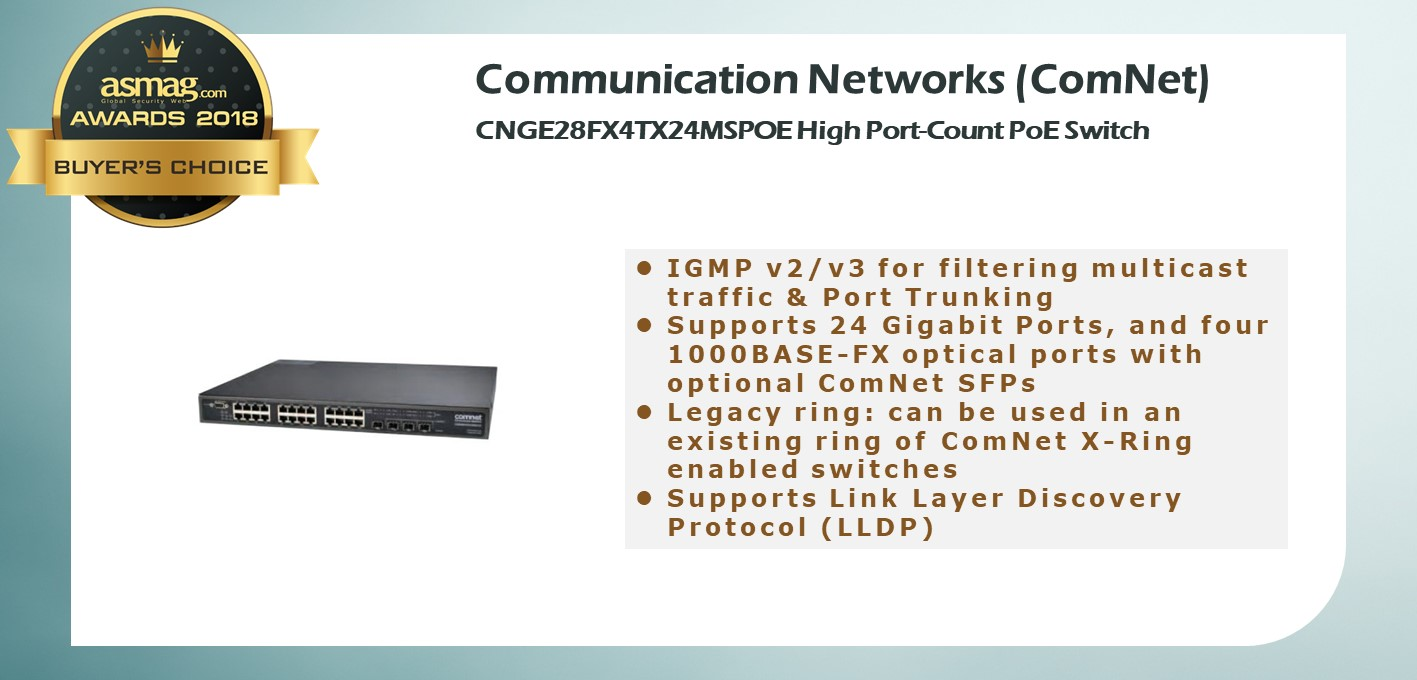 ComNet CNGE28FX4TX24MSPOE High Port-Count PoE Switch