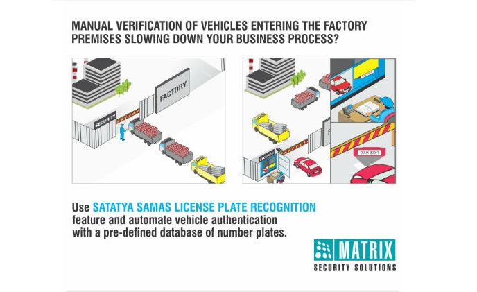 Automated verification of vehicles using Matrix video surveillance LPR solution