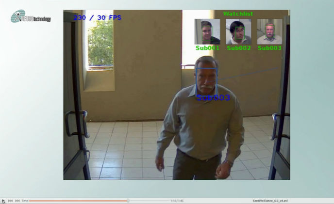 Neurotechnology SentiVeillance 6.0 uses surveillance cameras for biometric identification