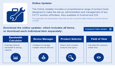 Samsung Techwin launches Online product tools Updater