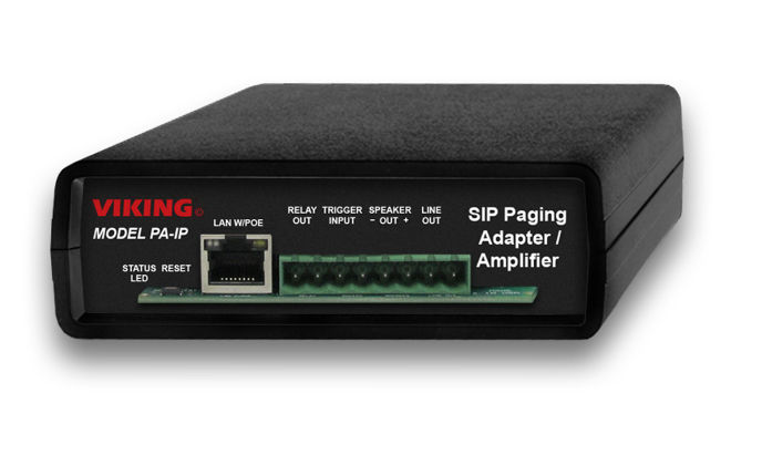 VoIP SIP paging end point – Viking's PA-IP