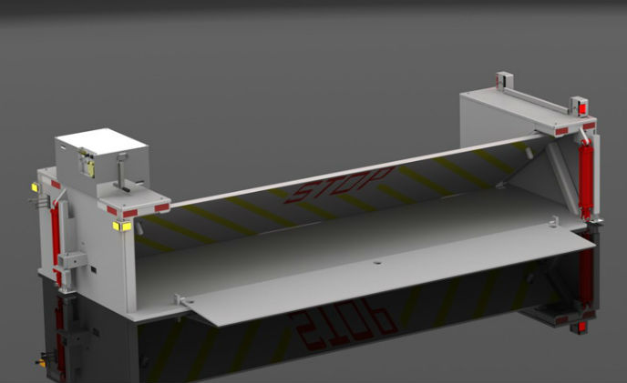 Delta Scientific MP5000 portable crash barriers used during Pope's U.S. visit