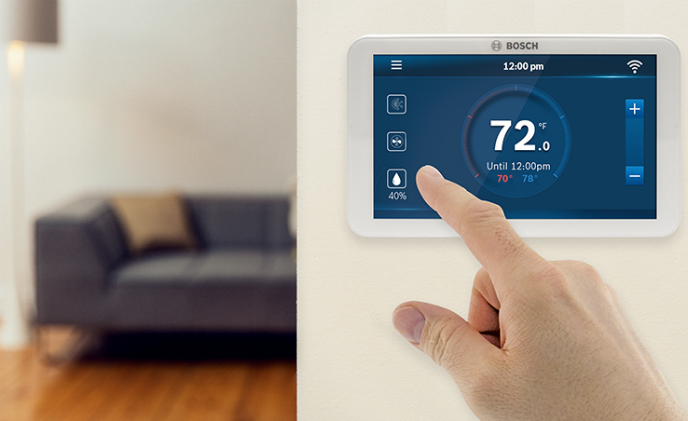 Bosch introduces connected thermostat with full-color touchscreen