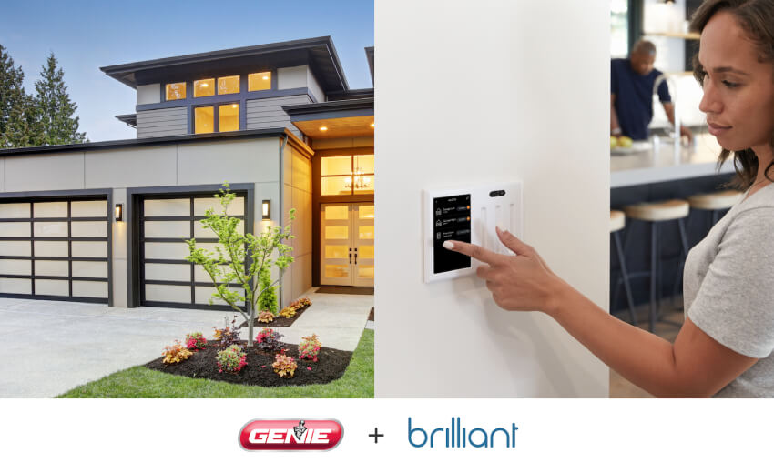Brilliant and Genie announce garage door integration for smart home system
