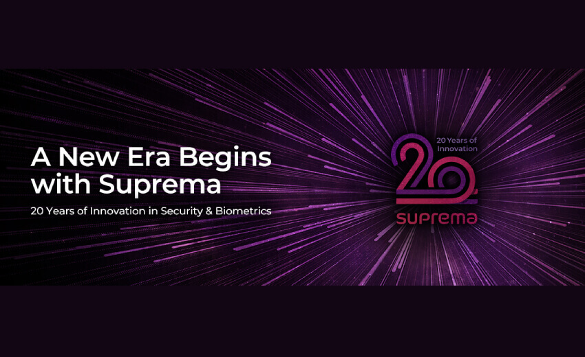 Suprema marks 20th anniversary with a new emblem