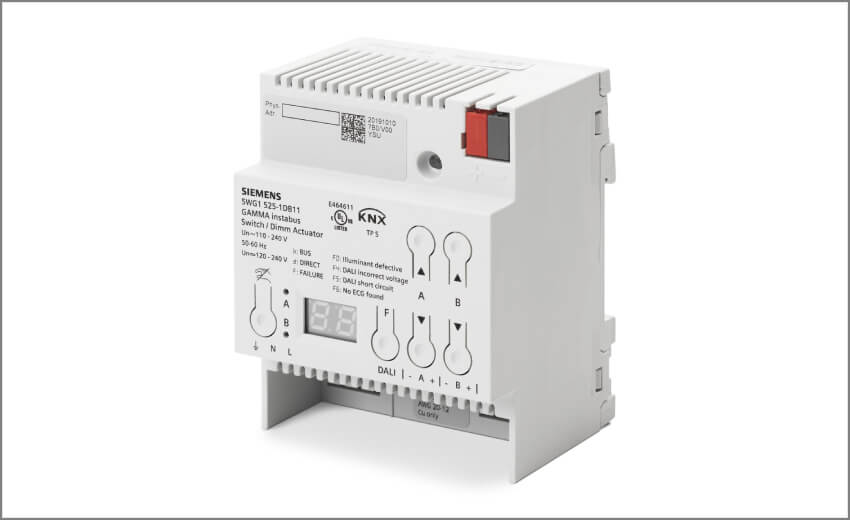 New Siemens KNX actuator enhances energy efficiency for DALI lighting control
