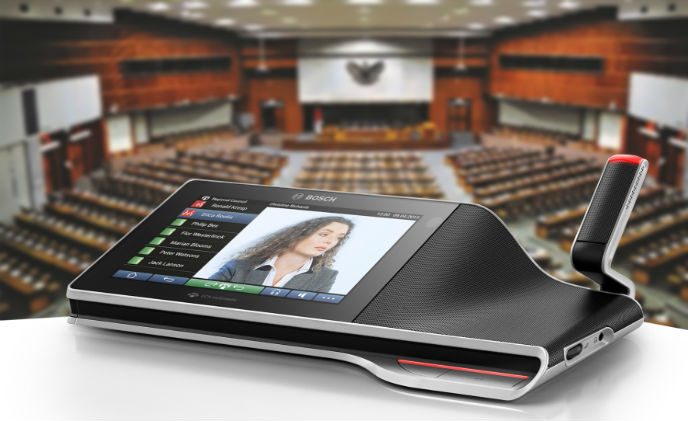 Bosch supplies conferencing system in Indonesian Parliament