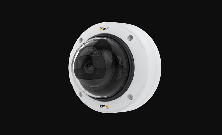 Axis fixed dome camera supporting powerful AI with deep learning on the edge