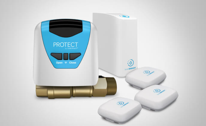 Learn and control home's water usage with protect by LeakSmart with Flow