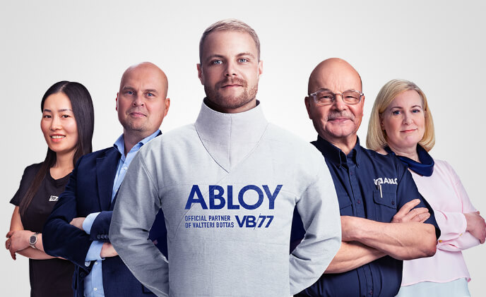 Race driver Valtteri Bottas partners with locking security brand Abloy