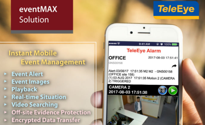 TeleEye releases eventMAX Solution to manage events instantly with mobile