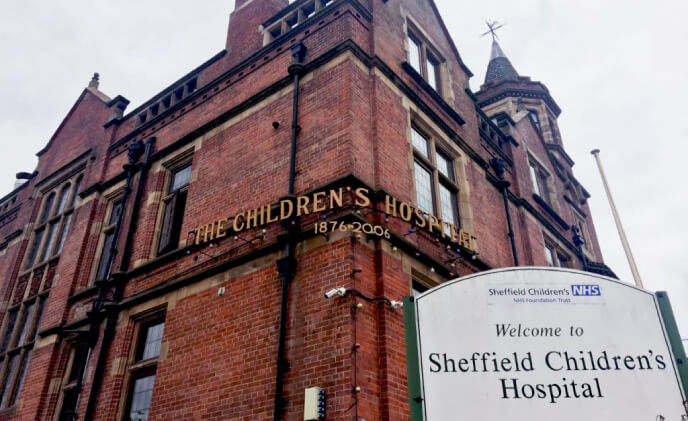 Comelit VIP secures Sheffield Children's hospital
