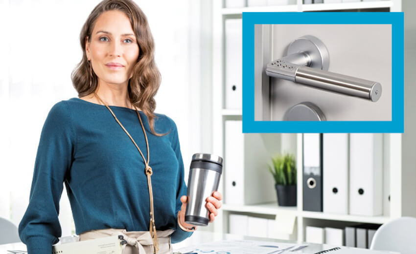 Code Handle lock protects the office confidential cost-effectively