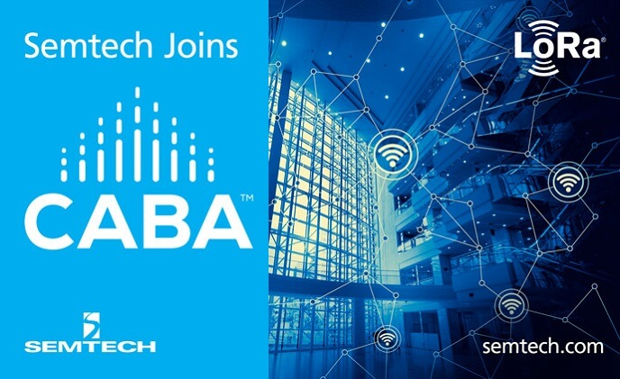 Semtech joins CABA to advance LoRa solutions in smart building and home