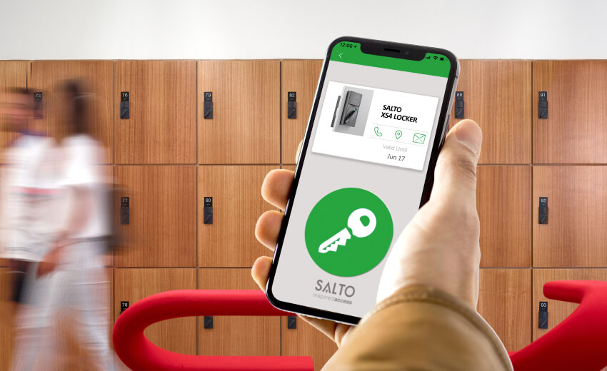 Game-changing access control technology to lockers with the SALTO