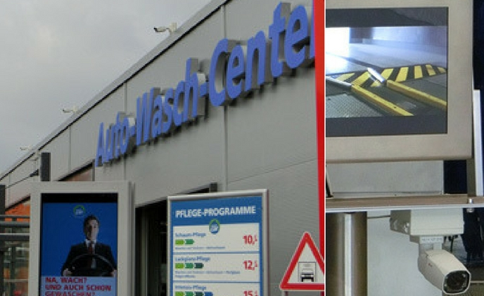 eneo network cameras and NVR provide security for CleanCar branch on Glienicker Weg