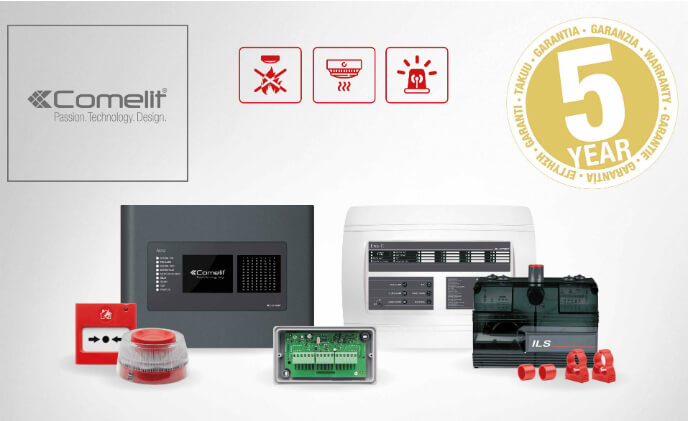 Comelit guarantees fire detection range